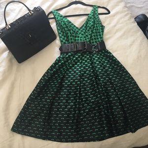 Beautiful green and black Eva Franco dress size 2